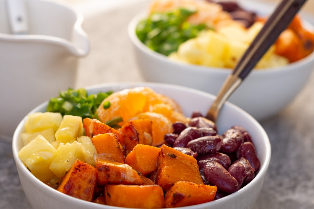 Pumpkin and Kidney Bean Salad with an Exotic Twist